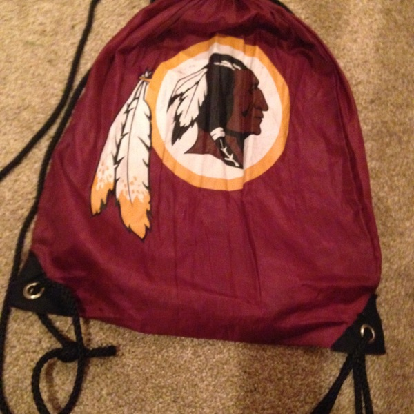 redskins red drawstring bag is being swapped online for free