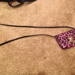 Pink purple cheetah print purse bad off shoulder or side is being swapped online for free