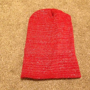 Glitter red beany hat is being swapped online for free