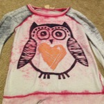 Pink owl shirt women's S/m is being swapped online for free