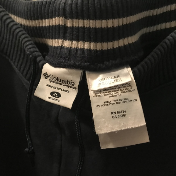 Columbia navy cotton long pants XL  is being swapped online for free