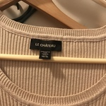 Le Chateau beige round neck top XL  is being swapped online for free
