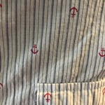 NEW Cotton Anchor Stripe Tabbed Sleeve Blouse - Medium is being swapped online for free