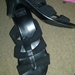 "Black strap  2"" sandal is being swapped online for free"