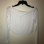 Women's white crop top long sleeve tee size small is being swapped online for free