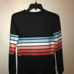 Women's black & rainbow striped long sleeve size small is being swapped online for free