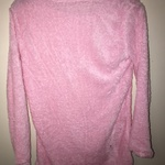 Women's hot pink fuzzy sweater size small is being swapped online for free