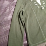 Baxter & Wells Womens Heavy Cotton Shirt XL Olive Green Long Sleeve Worn Once is being swapped online for free