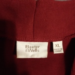 Baxter & Wells Womens Heavy Cotton Shirt XL Burgundy & White w Flowers (Runs Small) Never Worn is being swapped online for free