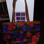 Floral Purse Red Blue Green Pink Handbag Lots of Pockets is being swapped online for free