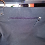 Rosetti Black Zipper Handbag Purse Faux Leather Lots of Pockets Used Once is being swapped online for free