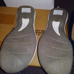 Womens White Sandals Collection By Clarks Size 9 Velcro Adjustable Never Worn is being swapped online for free
