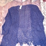 Blue Lace Bathing Suit Cover-up 3/4 sleeve 1X (16 Wide) is being swapped online for free