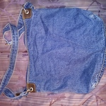 Blue Denim Unbranded Purse 13 wide x 12 long x 2 deep New is being swapped online for free