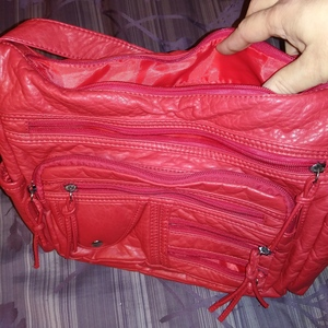 Red Unbranded Purse 13 wide X 9 Long X 3 1/2 Deep New is being swapped online for free