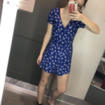 Blue floral romper is being swapped online for free