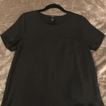 Black Short Sleeve Open-Back Blouse is being swapped online for free