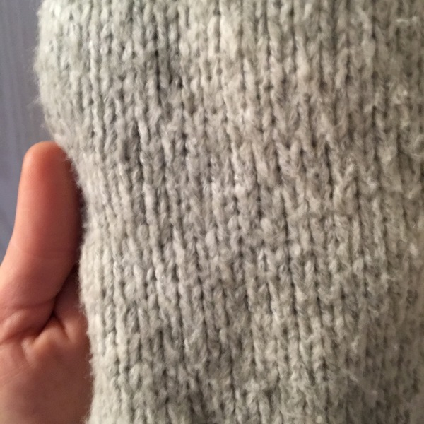 Small/med gently used Gap tie front grey sweater is being swapped online for free