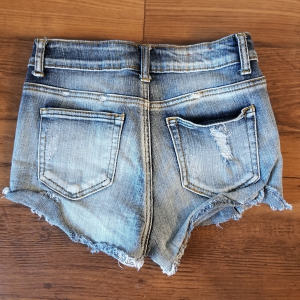 Distressed High Waisted Denim Shorts is being swapped online for free