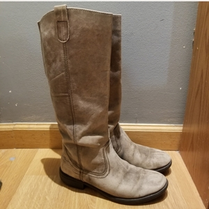 Tall Distressed Leather Boots  Sz 9 is being swapped online for free