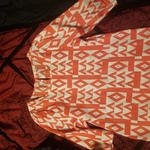 NWOT small/medium geometric blouse is being swapped online for free