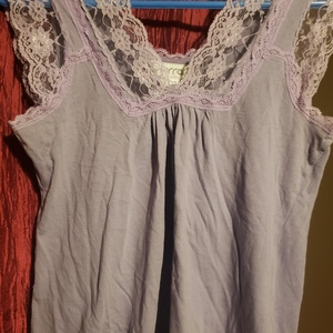 Small Lacy Lavendar sleeveless top is being swapped online for free