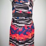 XOXO Black & White Stripes Neon Colored Dress w/ Pockets - Juniors Size 5/6 is being swapped online for free