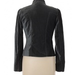 Loft Gray Pinstripe Mandarin Collar Blazer Jacket - 6 is being swapped online for free