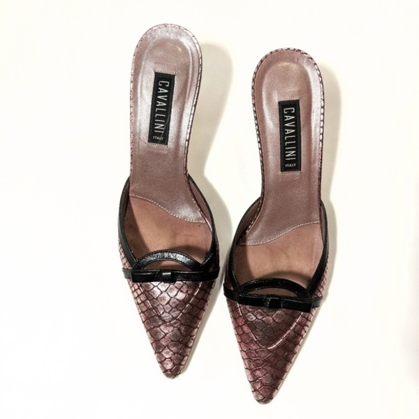 Made in Italy Cavallini Python Print Mule Sandals - 8.5 is being swapped online for free