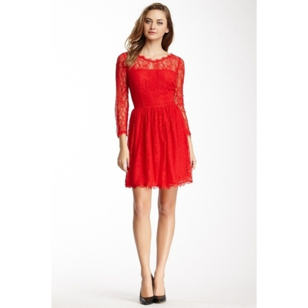 Juicy Couture Red Lace Dress - small is being swapped online for free
