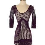 Intimately Free People Purple Lace Crochet Dress - xs is being swapped online for free