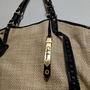 Cole Haan Woven Bag with patent leather trim is being swapped online for free