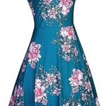 Green Floral dress brand new! is being swapped online for free