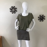 Derek Heart Olive Green Striped Tank Dress M is being swapped online for free