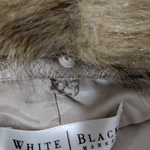White House Black Market Brocade Faux fur Coat -s is being swapped online for free
