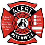 Pet Alert Safety Decals is being swapped online for free