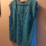 Turquoise sleeveless top  Size xl  is being swapped online for free