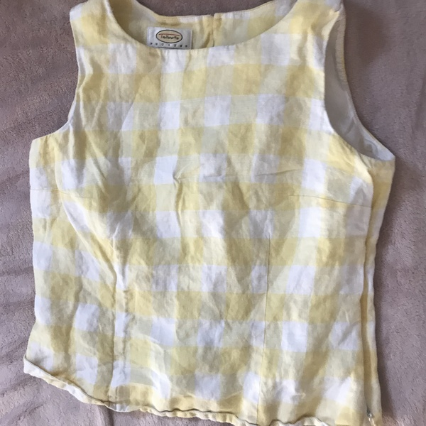Yellow Gingham/Plaid Tanktop is being swapped online for free