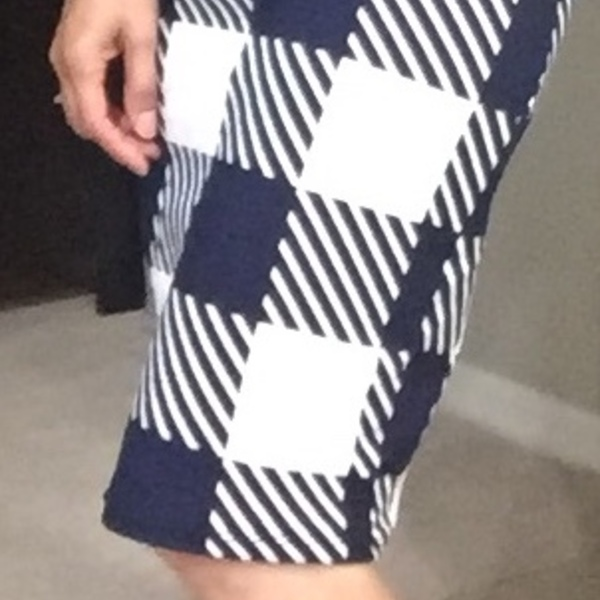 Blue and White plaid skirt is being swapped online for free