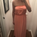 Salmon or Peach colored Maxi Dress is being swapped online for free