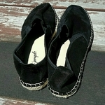 NWOT Free People Black Suede Espadrilles Size 8 is being swapped online for free
