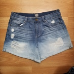 High Waisted Distressed Denim Shorts Sz 12/13  is being swapped online for free