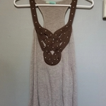 Embellished Racerback Tank Top sz M is being swapped online for free
