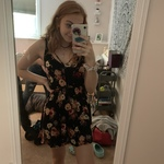 PACSUN BLACK FLORAL DRESS is being swapped online for free
