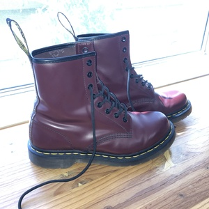 Dr. Martens Cherry Red Boots Size 8 is being swapped online for free