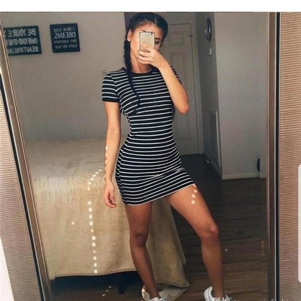 Striped Tshirt dress is being swapped online for free
