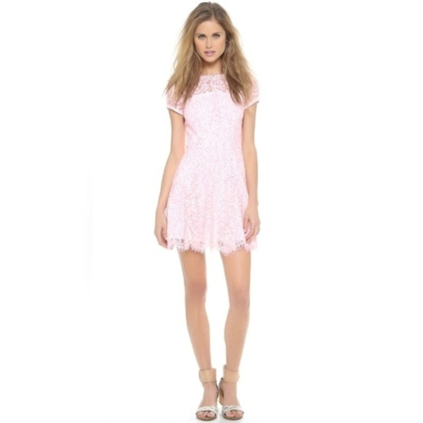 New Juicy couture neon pink and white lace dress is being swapped online for free