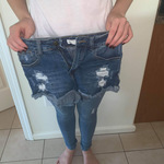 Distressed jean shorts  is being swapped online for free