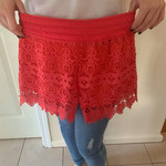 Coral lacy shorts is being swapped online for free