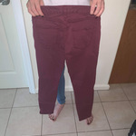 Maroon skinny jeans is being swapped online for free